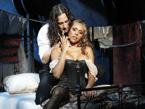 Constantine Maroulis and Deborah Cox in Jekyll and Hyde.