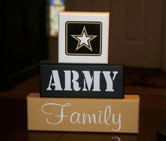 ARMY Family Blocks  by krcustomwoodcrafts (Click the Etsy.com link to see the full listing)