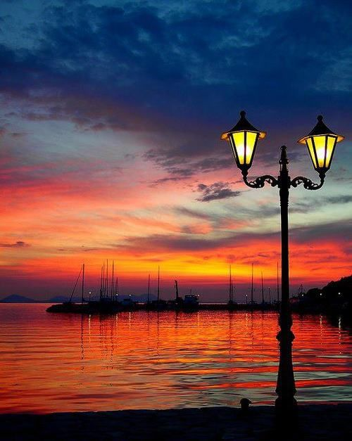Sunset at Syvota of Thesprotia, Greece