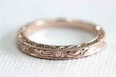 Voguegem Antique New Design 14k White Gold/ Rose Gold/ Yellow Gold Band Wedding Rings for women