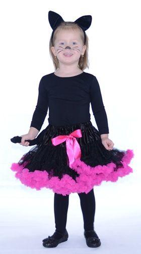farsangi jelmez pettiskirt tütü pink fodorral cat cica macska fancy dress jelmez