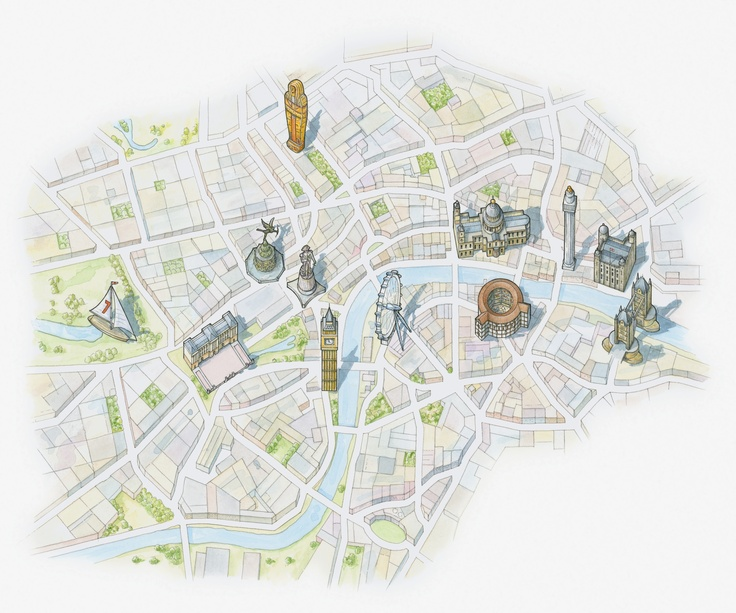 map illustration london
