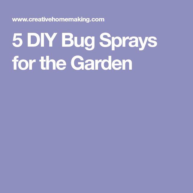 5 DIY Bug Sprays for the Garden