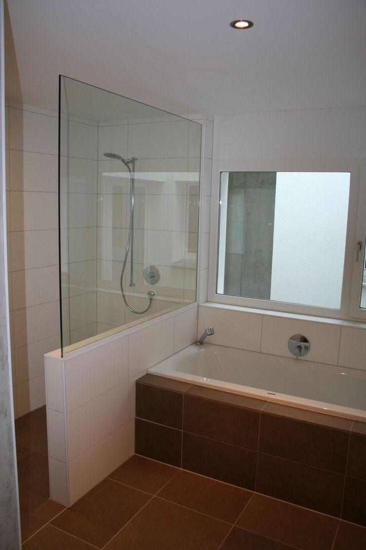 Dusche halbhoch gemauert glas  59 besten Badideen Bilder auf Pinterest   Gäste wc, Wohnen und Duschen