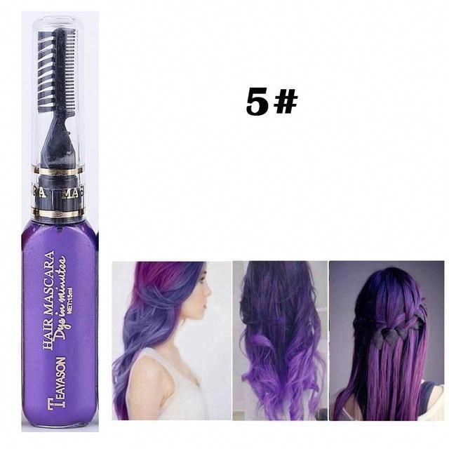 13 Colors One-time Hair Color Dye Temporary Non-toxic DIY