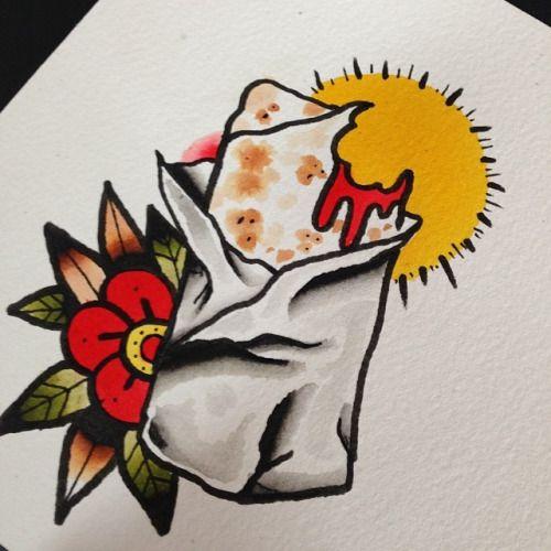 Burrito tattoo flash