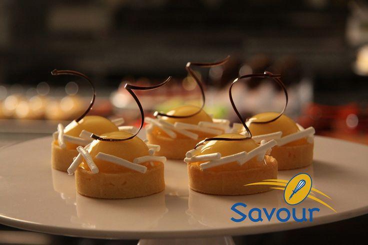 Lemon meringue tarts at Savour Chocolate & Patisserie School! #entremets