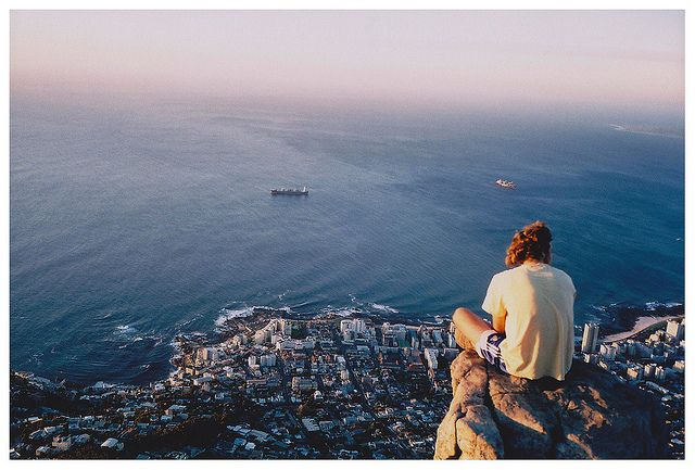 Cape Town, South Africa...shot taken from Top of Table Mountain (seems a bit high for Lions head)