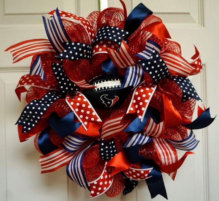 Texans Wreath-Mini, Houston Texans Wreath-Mini, Houston Wreath-Mini by Texascaseyscreations on Etsy