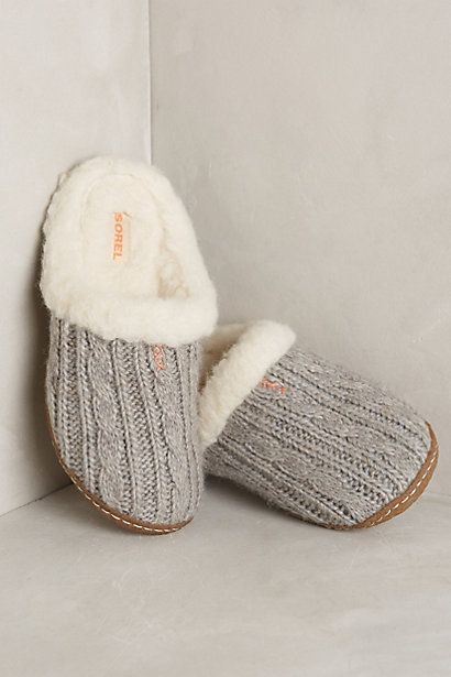cozy Sorel knit slippers #anthrofave http://rstyle.me/n/r9jz9r9te