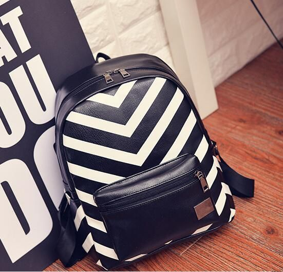 Find More Backpacks Information about 2017 new women strip leather backpack patchwork school bags for girls 4 styles to choose laptop backpack drop shipping MN61,High Quality Backpacks from MinongTrading Co. Store on Aliexpress.com