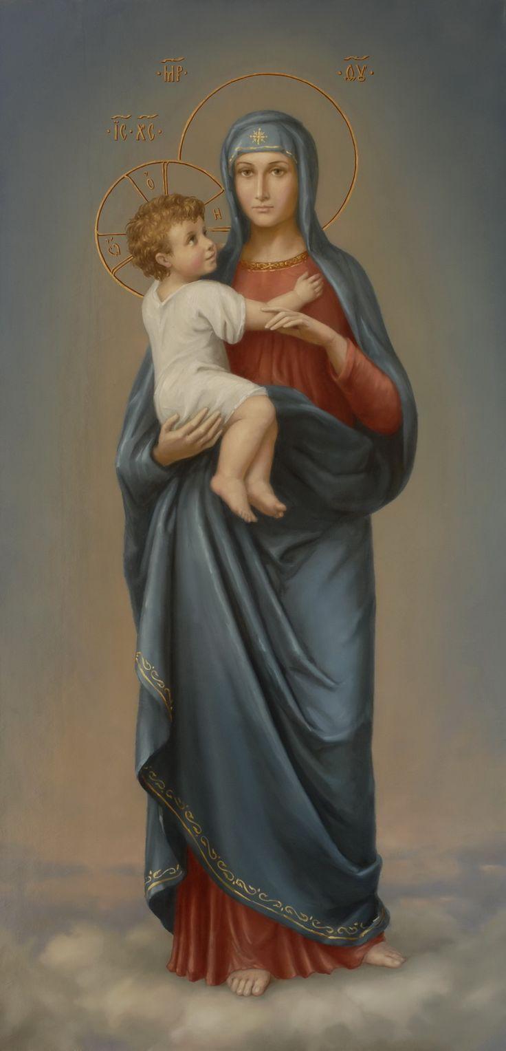 """Богоматерь с Младенцем. Икона корабельной церкви Николая Чудотворца, Крейсера """"Аврора""""."""