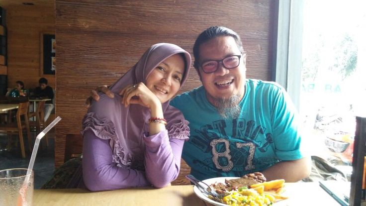 O Allah ...may we always love each other only because of You...At Abuba steak Bogor..01.05.15