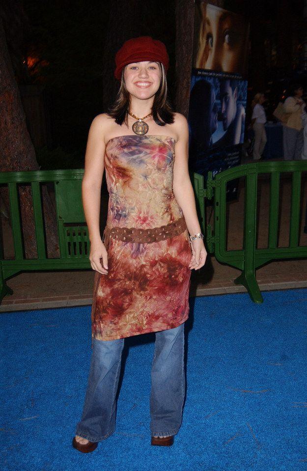 Image result for jeans under dress 2002