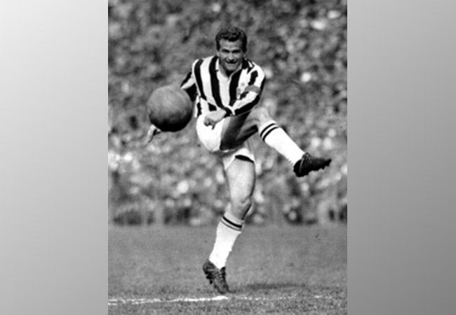 Giampiero Boniperti (born 4 July 1928 in Barengo, Piedmont) is an Italian former football player who played his entire career at Juventus between 1946 and 1961, winning five Serie A titles and two Coppa Italia titles. He also played for the Italian national football team at international level, and took part at the 1950 and 1954 FIFA World Cup finals, as well as the 1952 Summer Olympics with Italy.