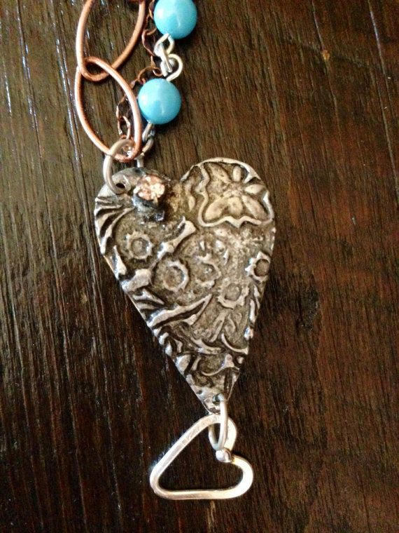 You Me Oui  Silver Soldered and Hand by Forgetmenotkeepsake, $25.00