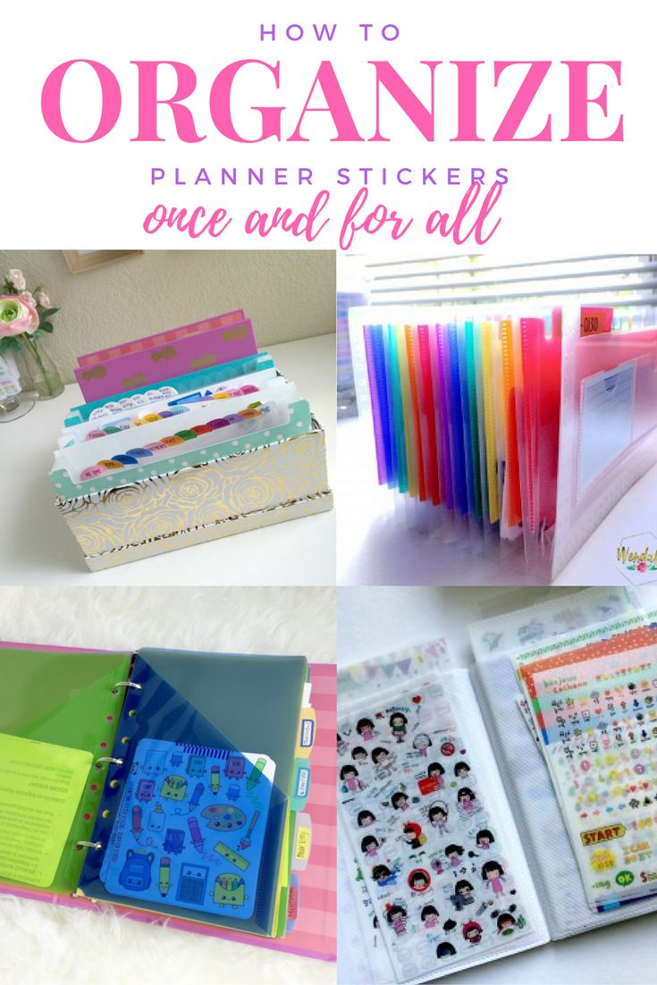 10 Different ways to organize your planner stickers. From binders to folders and more!