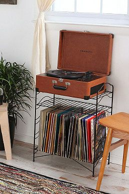 Turquoise Record Stand - Urban Outfitters