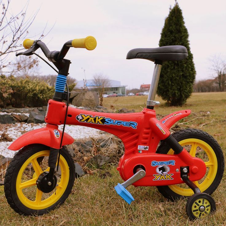 Bicicleta copii Super Yak rosie Yakari
