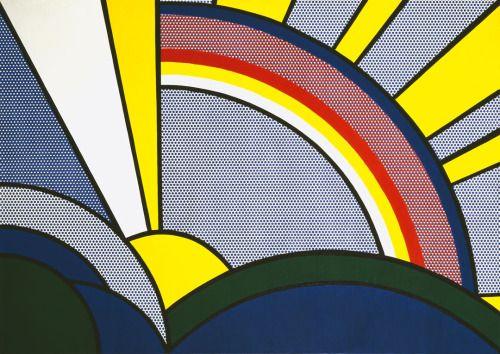 """«Roy Lichtenstein: """"Modern Painting with Sun Rays"""" (1967)»."""