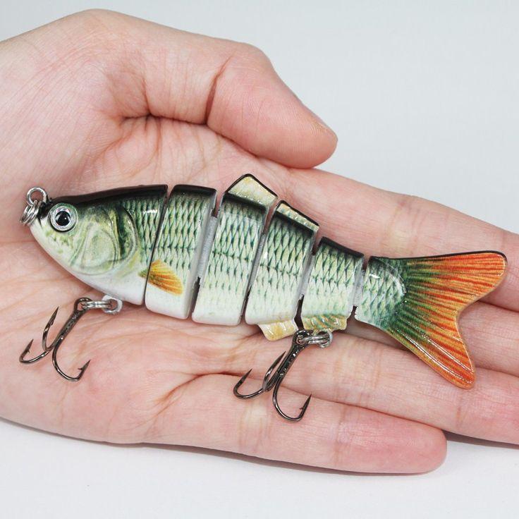 Fishing Lure 6 Segment Swimbait Crankbait Hard Bait Slow 17g 10cm Fishing hook Fishing Tackle FL6-S02