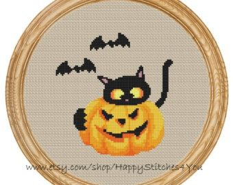 Cross Stitch Pattern PDF christmas cat DD0131 par HappyStitches4You