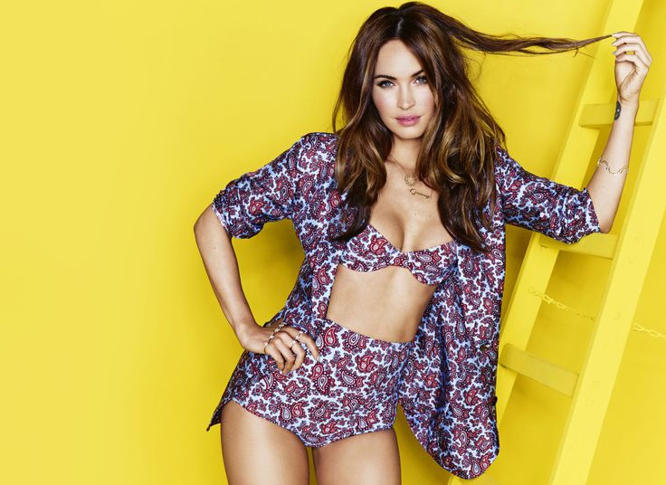 Suit your fancy. Megan Fox in a full look from the Michael Kors Spring 2014 Collection. Cosmopolitan, US, August 2014.
