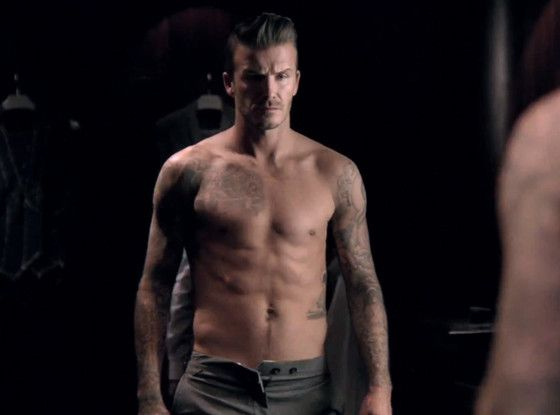 David Beckham looks sooo sexy in the new ad for his fragrance -- Classic.