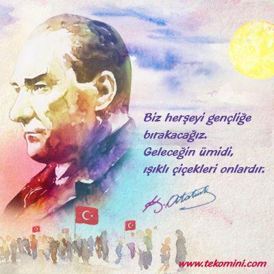 19 Mayıs Atatürk'ü Anma, Gençlik ve Spor Bayramı Kutlu Olsun #19Mayıs #atatürk #gençlik #spor #bayram #kutluolsun #tekomini