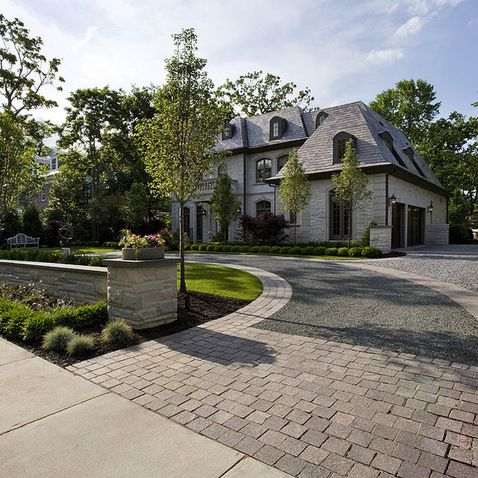 Pin by bonnie kandel on a side of ranch the outside for House garden driveway designs