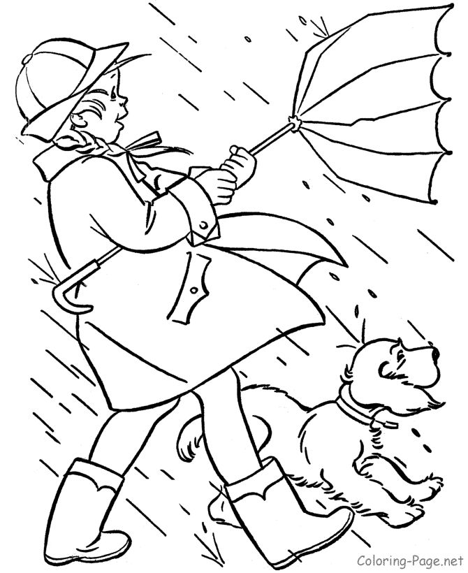 Spring coloring page - Spring winds