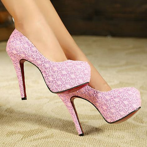 Autumn hot - selling ultra high heels women's lace platform pumps ladies red sole heels shoes wedding shoes 34 - 39 free shipping http://zzkko.com/n294593 $70.61 BRL