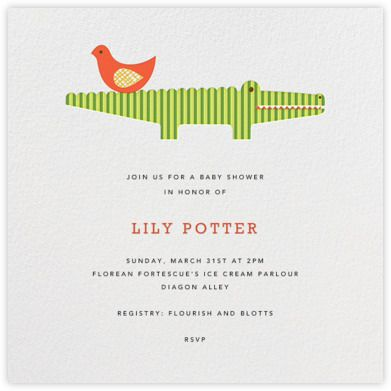 baby invitations alligator baby showers post modern paperless post