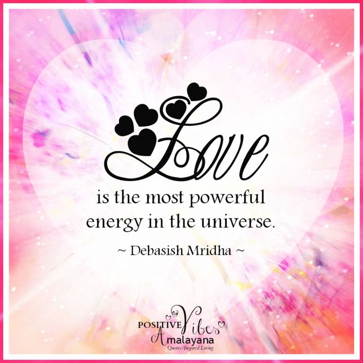 """Love Each Other When Two Souls: """"Love Is The Most Powerful Energy In The Universe"""