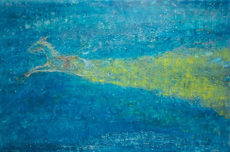 「終わりのない旅」 キャンバス 油彩
