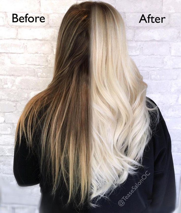 coloration mieux blonds beforeandafter haircolor behindthechair blond rduit considrablement liaison multiplicateur cheveux as a blonde - Coloration Redken