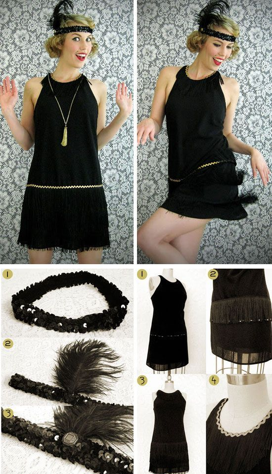 DIY Flapper Dress Costume | Click Pic for 22 Easy DIY Halloween Costumes for Women 2014 | Last Minute Halloween Costumes for Women