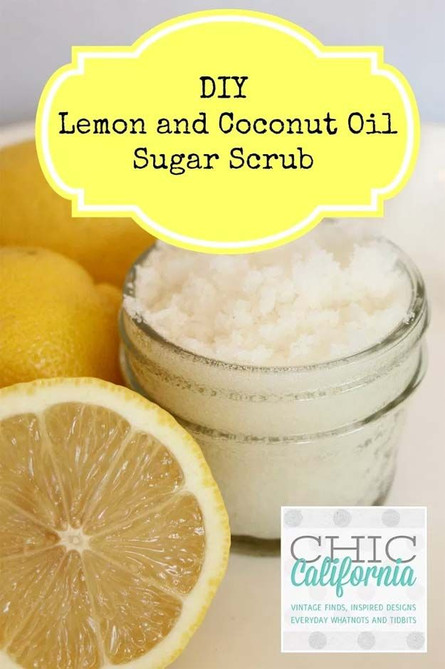 DIY Beauty Ideas With Coconut Oil - Lemon and Coconut Oil Sugar Scrub - The Best Skincare And Hair Tricks And Techniques For Using Coconut Oil To Look Beautiful. Use Coconut Oil For Lip Balm, Homemade Deodorant, Skin Care Moisturizer, And For Hair. Great Gift Ideas For Using Coconut Oil For Beauty Products That Are DIY And Home Made. Amazing Uses For DIY Skin Treatment And Young Living Using Coconut Oil. Step By Step Tutorials And Tricks For Natural Makeup Remover, Natural Skincare Routines…