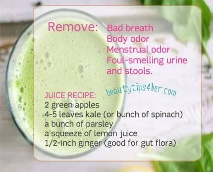 Juice That Will Remove Your Bad Breath,body Odor,menstrual Odor,foul-smelling Urine And Stools