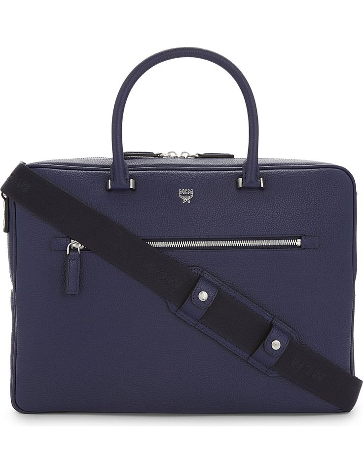 MCM Ottomar grained leather briefcase