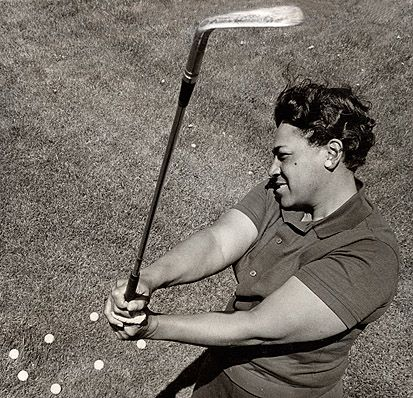 Professional Golfer Ann Gregory, 1956. First African American Woman to compete in a USGA Championship.