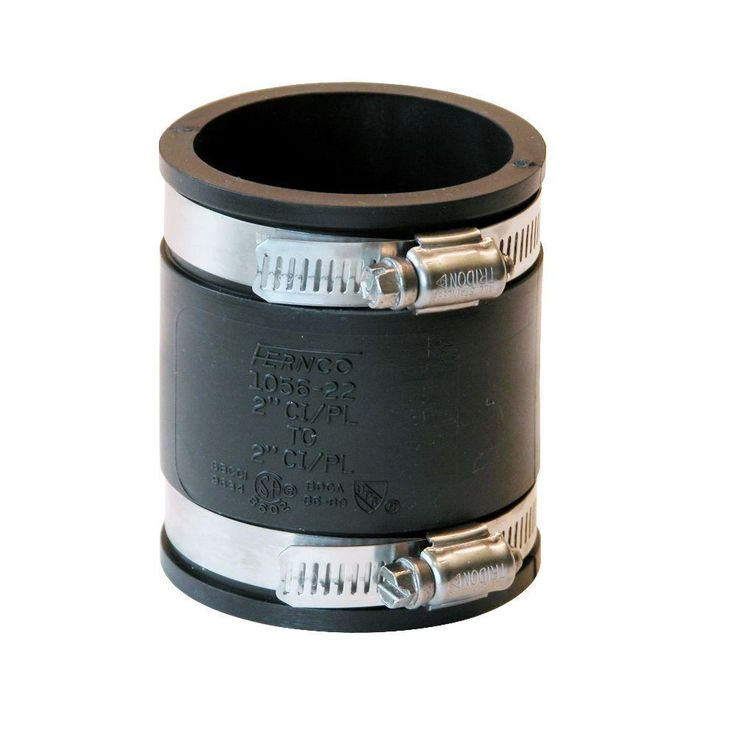 2 in. x 2 in. DWV Flexible PVC Coupling-P1056-22 - The Home Depot