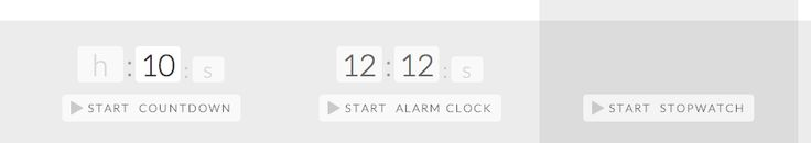 Timer-Tab is an easy to use online alarm clock, timer, and/or stopwatch. Click on any of the functions, set your time, and get started. The alarm clock and countdown move in increments of hours, minutes, and seconds. The countdown and stopwatch also have a pause feature. One especially handy feature is that the time displays on the browser time so you can see it as you navigate other web sites.