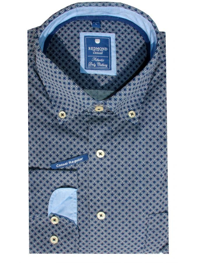 REDMOND Μακρυμάνικο πουά πουκάμισο, casual regular fit