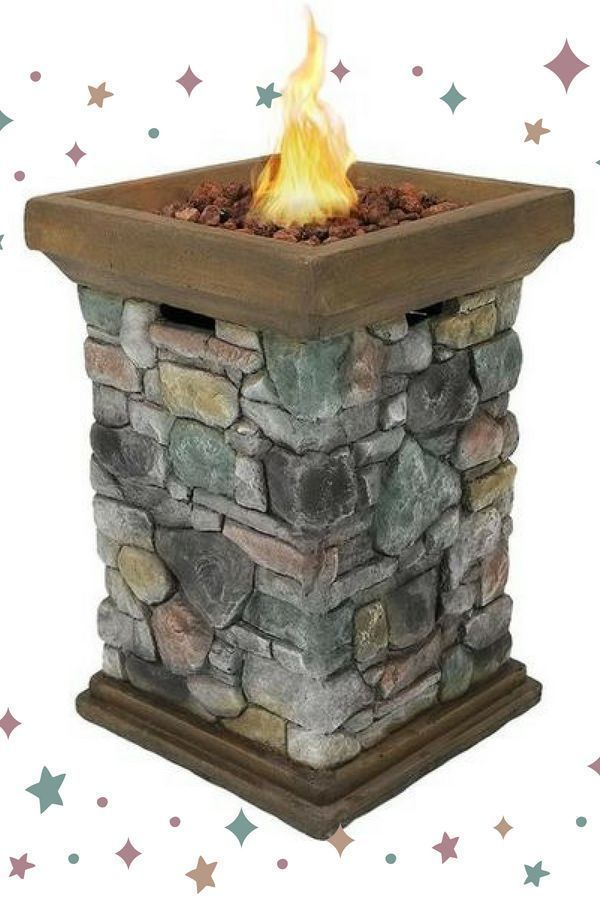 Enjoy The Cooler Autumn Evenings With A Fire Pit On The Patio The Propane Tank Is Concealed Inside All Of The Rustic Fire Pits Fire Pit Party Backyard Fire