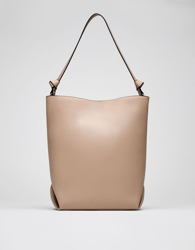 Nude tote bag - Bags - Accessories - Woman - PULL&BEAR Ireland