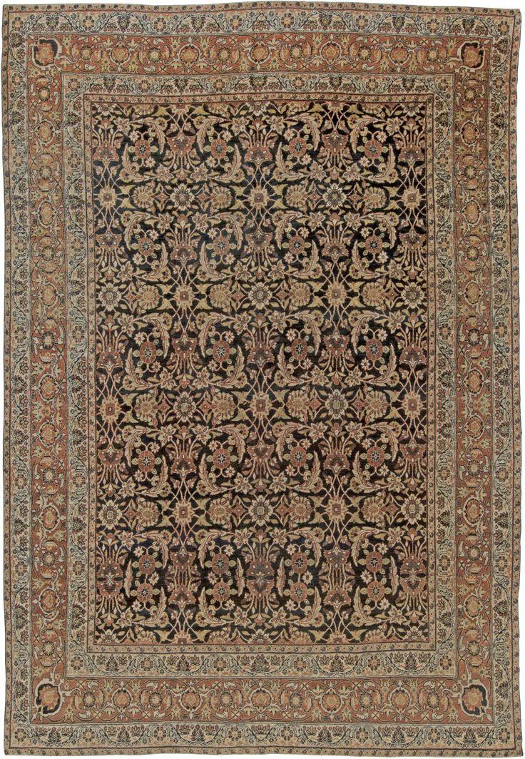 Persian rugs: Persian rug (antique) rug in beige blue color, oriental rug, oriental pattern for modern, elegant interior decor, rug in living room #rug #persianrug
