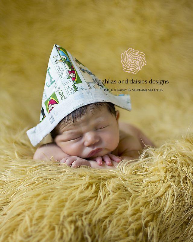 Dallas Newborn Boy Photographer  newborn boy with newspaper hat