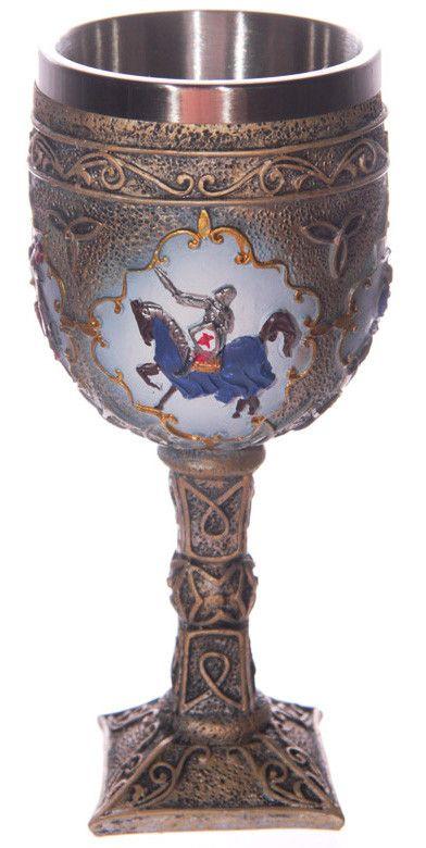 Copa con Caballeros Medievales #medieval #knight #goblet #caliz #decoracion #decor #xtremonline