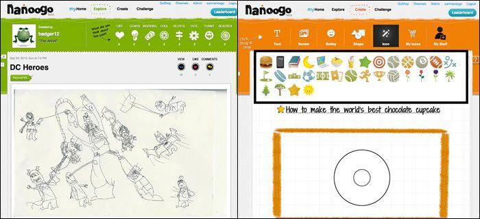 Nanoogo: divertente piattaforma per la scrittura creativa dei bambini